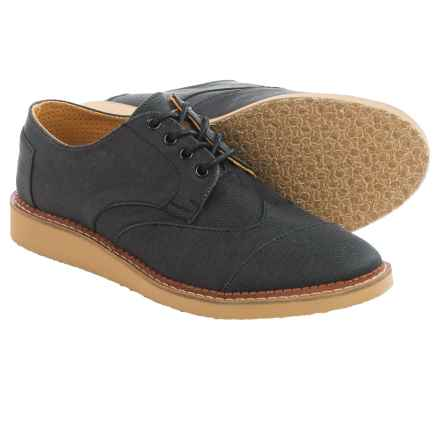 TOMS Aviator Twill Brogue Shoes (For Men) in Ash - Closeouts