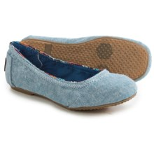 TOMS Ballet Flats (For Little and Big Girls) in Blue - Closeouts