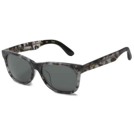 TOMS Beachmaster 301 Sunglasses in Matte Grey Tortoise/Green Grey - Closeouts