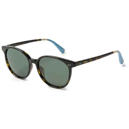 TOMS Bellini Sunglasses - Polarized (For Women) in Tortoise Light Blue/Green Grey - Closeouts