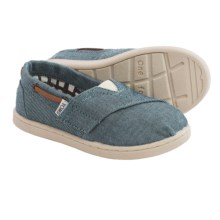 TOMS Bimini Chambray Shoes - Slip-Ons (For Little and Big Kids) in Blue - Closeouts