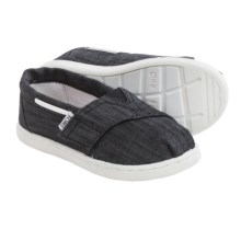 TOMS Bimini Espidrilles (For Little and Big Kids) in Black - Closeouts