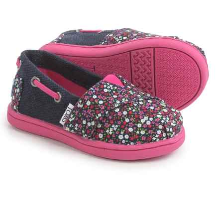 TOMS Bimini Tiny Shoes (For Toddlers and Little Kids) in Pink Multi - Closeouts