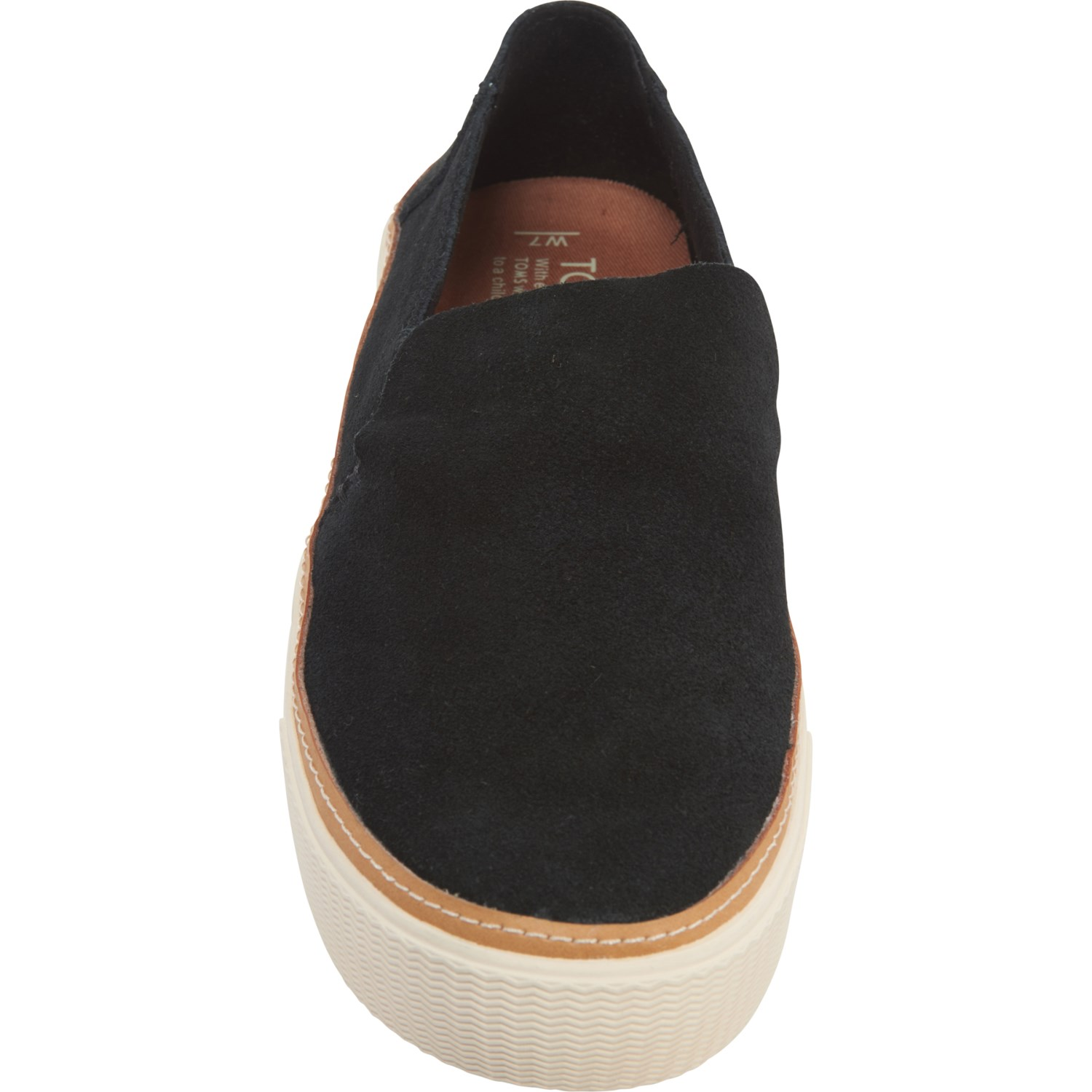 TOMS Black Sunset Sneakers (For Women)