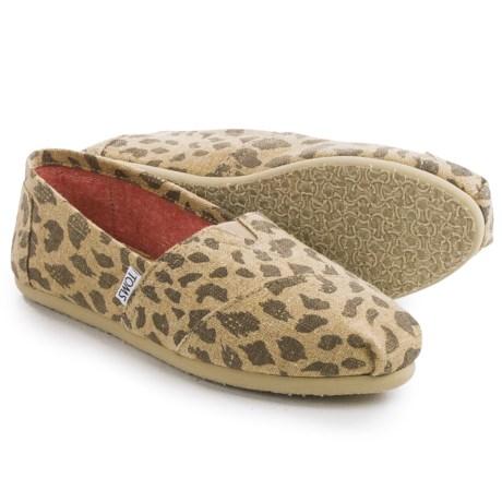 TOMS Burlap Classic Shoes Slip Ons (For Women)