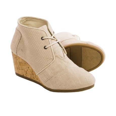 TOMS Burlap Desert Wedge Ankle Boots (For Women)