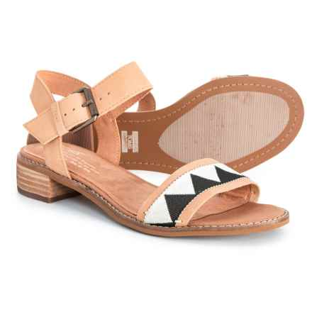 TOMS Camillia Sandals - Leather (For Women) in Honey - Closeouts