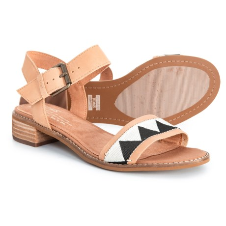 5f467dd214b TOMS Camillia Sandals - Leather (For Women) in Honey