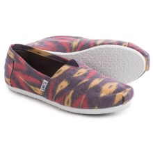TOMS Canvas Ikat Shoes - Slip-Ons (For Women) in Pink Multi - Closeouts