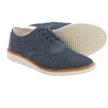 TOMS Chambray Classics Brogue Shoes (For Men) in Blue - Closeouts