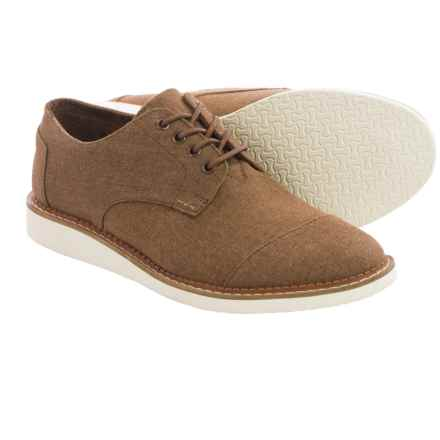 TOMS Chambray Classics Brogue Shoes (For Men) in Brown - Closeouts