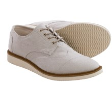 TOMS Chambray Classics Brogue Shoes (For Men) in Oxford Tan - Closeouts