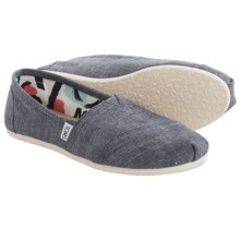 TOMS Chambray Classics Shoes - Slip-Ons (For Women) in Blue - Closeouts