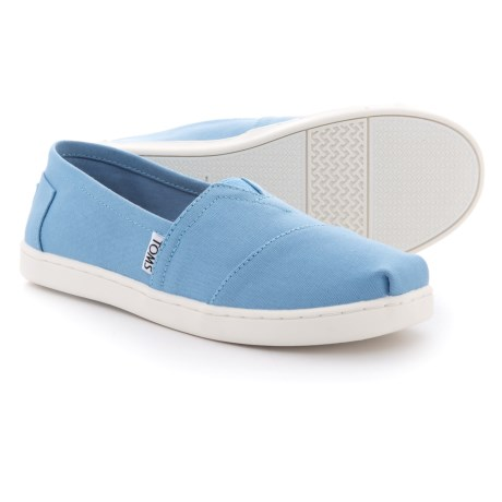 TOMS Classic Alpargata Shoes - Slip-Ons (For Girls) in Blue