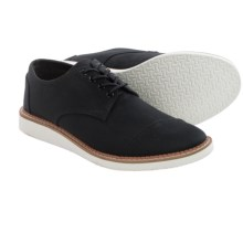 TOMS Classic Brogue Shoes - Cotton Twill (For Men) in Black - Closeouts