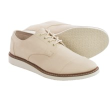 TOMS Classic Brogue Shoes - Cotton Twill (For Men) in Natural - Closeouts
