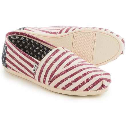 TOMS Classic Canvas Espadrilles (For Women) in American Flag - Closeouts