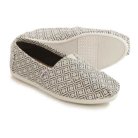 TOMS Classic Canvas Espadrilles (For Women) in White/Black - Closeouts