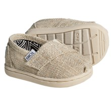 TOMS Classic Linen Glimmer Shoes (For Infants) in Natural - Closeouts