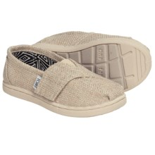 TOMS Classic Linen Glimmer Shoes - Slip-Ons (For Toddlers) in Natural - Closeouts