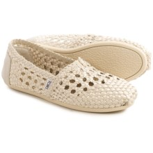 TOMS Classic Satin Woven Shoes - Slip-Ons (For Women) in Whisper - Closeouts