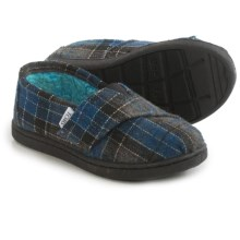 TOMS Classic Shoes (For Toddlers) in Blue Tartan - Closeouts