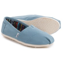 TOMS Classic Solid Shoes - Slip-Ons (For Women) in Blue - Closeouts
