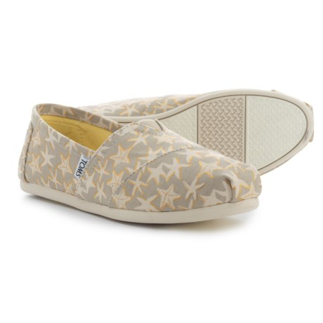 TOMS Classic Starfish Alpargata Shoes - Slip-Ons (For Women) in Tan/Gold