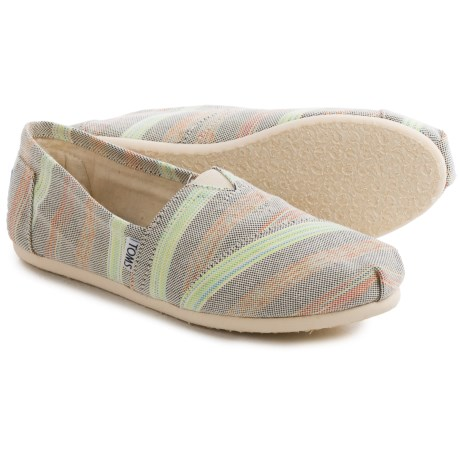 TOMS Classic Stripe Shoes Slip Ons (For Women)