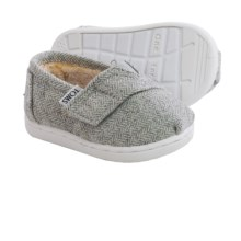 TOMS Classic Wool Cross-Strap Shoes (For Infants) in Grey - Closeouts
