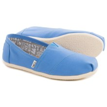 TOMS Classics Regatta Canvas Shoes - Slip-Ons (For Women) in Blue - Closeouts