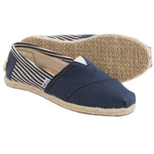 TOMS Classics University Shoes - Slip-Ons (For Women) in Navy - Closeouts