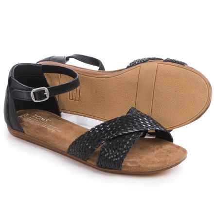 TOMS Correa Woven Sandals (For Women) in Black - Closeouts