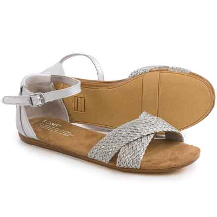 TOMS Correa Woven Sandals (For Women) in Silver - Closeouts