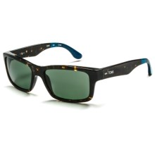 TOMS Culver Sunglasses - Polarized in Ebony Tortoise Dust Blue Deep Blue/G15 - Closeouts