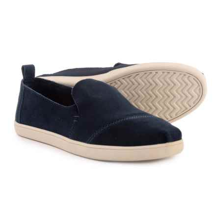 TOMS Deconstructed Alpargata Shoes - Suede, Slip-Ons (For Women) in Navy