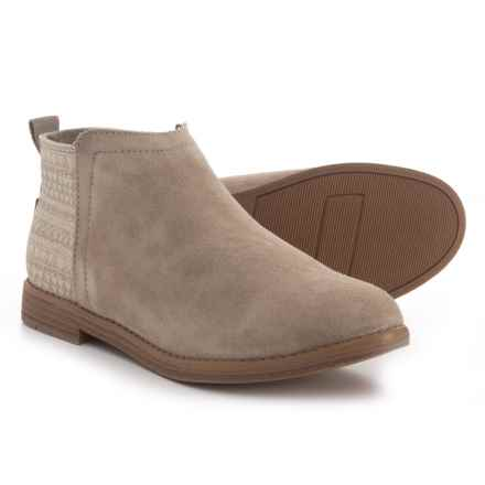 TOMS Deia Booties - Suede (For Girls) in Desert Taupe/Mud Hut - Closeouts