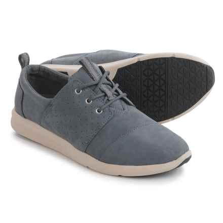 TOMS Del Rey Nubuck Shoes - Slip-Ons (For Women) in Grey Nubuck - Closeouts