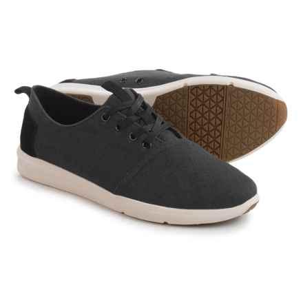 TOMS Del Rey Sneakers (For Men) in Black Burlap - Closeouts