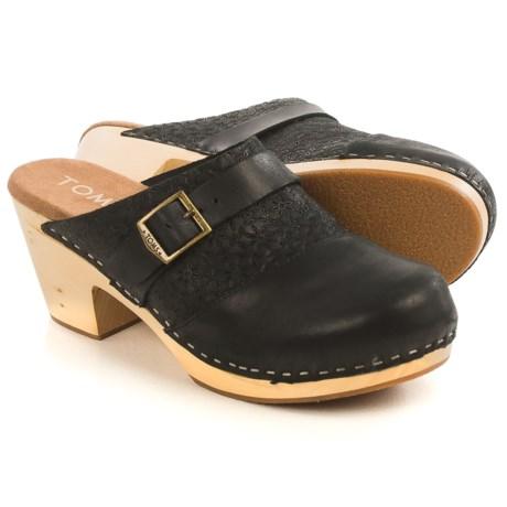 TOMS Elisa Open-Back Clogs - Leather