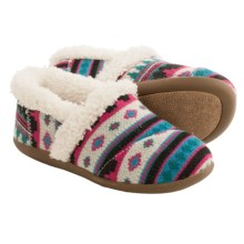 TOMS Fuchsia Fair Isle Slippers (For Little and Big Kids) in Multi - Closeouts