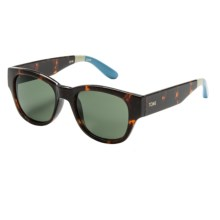 TOMS Gigi Sunglasses (For Women) in Tortoise Off White Light Blue/G15 - Closeouts