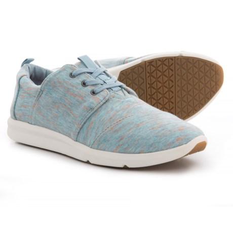 TOMS Heather Jersey Del Rey Sneakers (For Women) in Blue