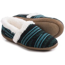TOMS House Slippers - Chenille Lined (For Women) in Blue/Green - Closeouts