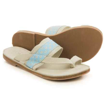 TOMS Isabella Sandals - Leather (For Women) in Dove Blue - Closeouts
