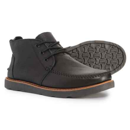 TOMS Leather Chukka Boots (For Men) in Black - Closeouts