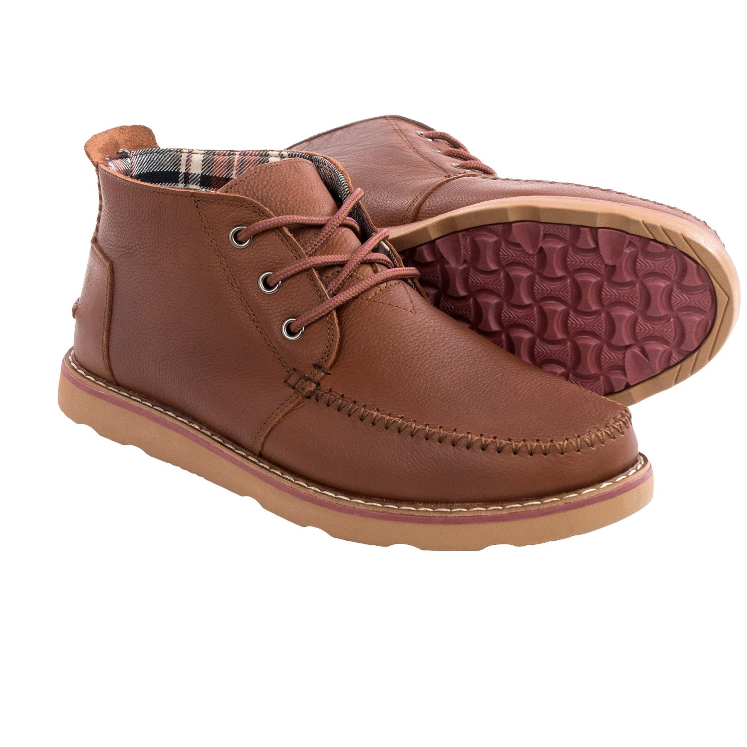 toms leather chukka boots for