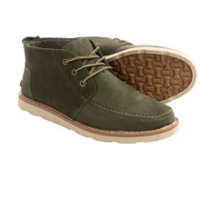 TOMS Leather Chukka Boots (For Men) in Olive Suede - Closeouts