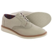 TOMS Leather Classics Brogue Shoes (For Men) in Taupe - Closeouts