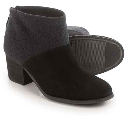 TOMS Leila Wool Felt Ankle Boots (For Women) in Black - Closeouts